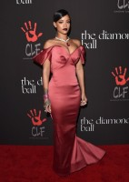 Rihanna Serves Up Glamour in Zac Posen Gown at First Annual Diamond Ball
