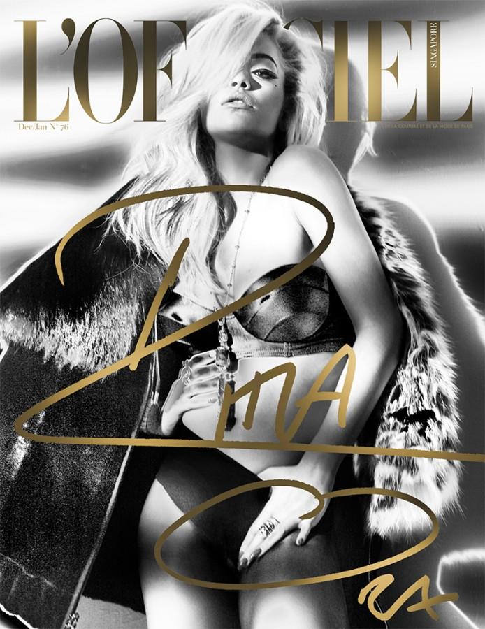 Rita Ora Smolders on L'Officiel Singapore December 2014 Cover