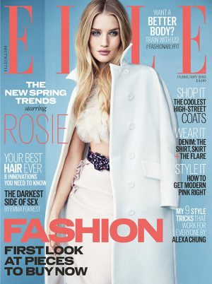 "Rosie Huntington-Whiteley Covers ELLE UK, Wants More Than a ""Rich Husband"""