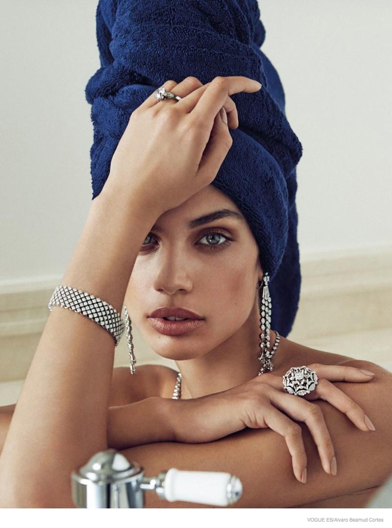 sara sampaio stuns in jewelry looks for alvaro beamud cortes in vogue