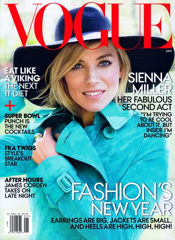 Sienna Miller is 70s Chic on Vogue US January 2015 Cover