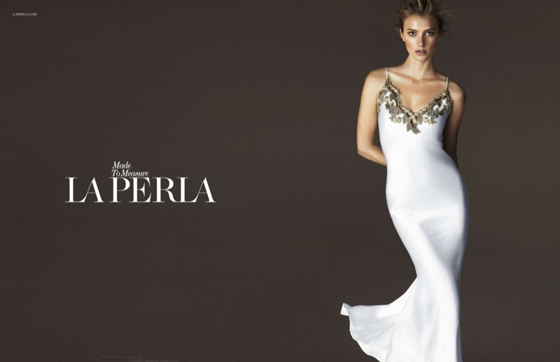 Preview: Sigrid Agren Stars in La Perla Spring/Summer 2015 Ad