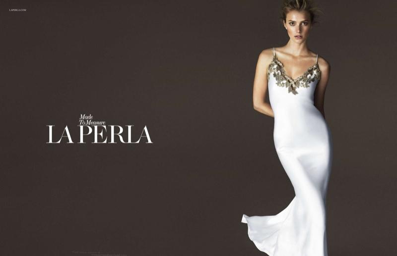Preview: Sigrid Agren Stars in La Perla Spring/Summer 2015 Ad