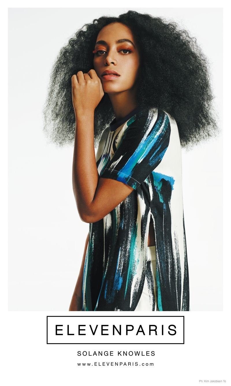 Solange Knowles Works It For Elevenparis Spring 2015 Ads