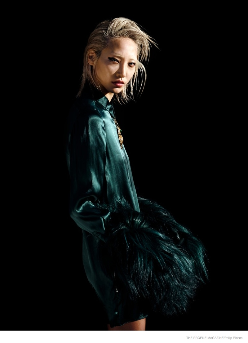 Soo Joo Park Wears Fur for Philip Riches in The Profile Magazine