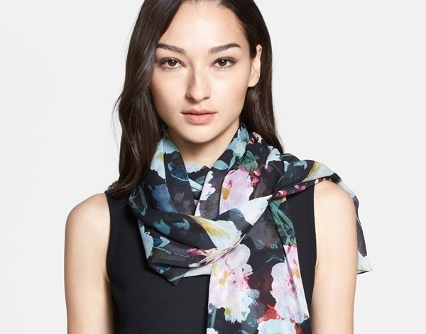 st-john-collection-floral-print-silk-scarf