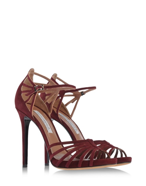 Tabitha Simmons Cosmo Sandal in Dark Cherry available at Shoescribe for $795.00