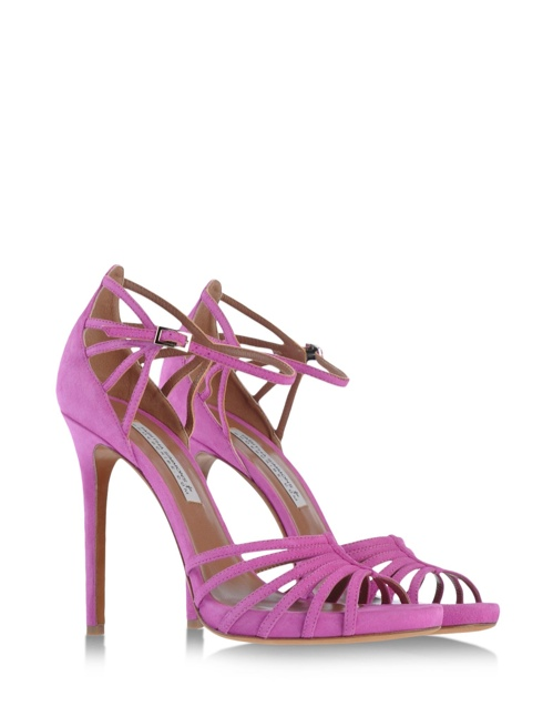 Tabitha Simmons Cosmo Sandal in Bougainvillea available at Shoescribe for $795.00