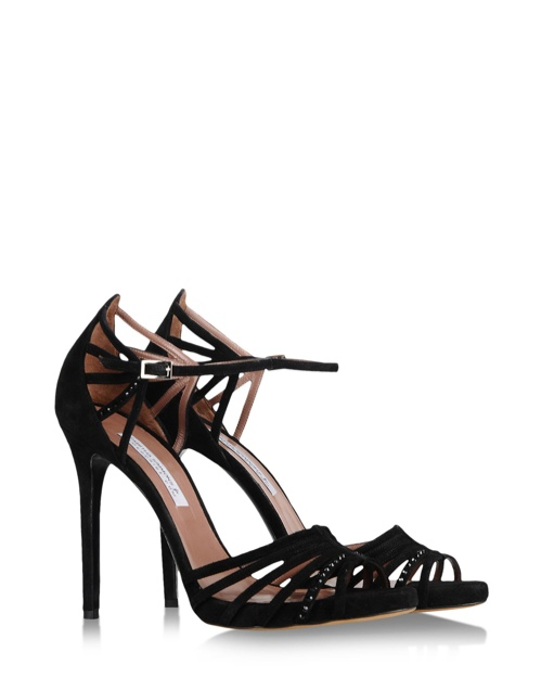 Tabitha Simmons Dark n' Stormy Sandal in Black available at Shoescribe for $845.00