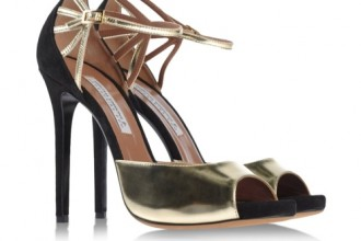 Tabitha Simmons French 75 Sandal in Two-Tone Champagne available at Shoescribe for $795.00