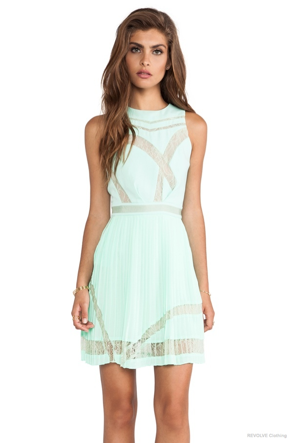 Three Floor 'Sweet Something' Dress in Mint Green available at REVOLVE Clothing for $213.00