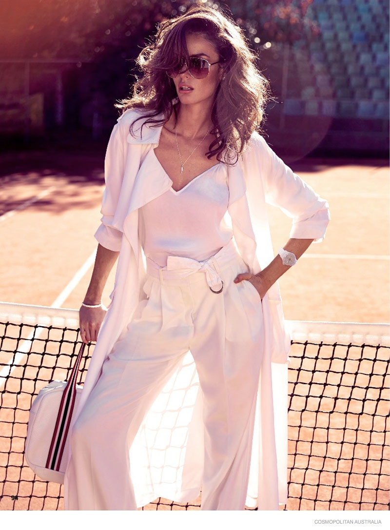 Nicole Trunfio Models Sporty Looks for Cosmopolitan Australia