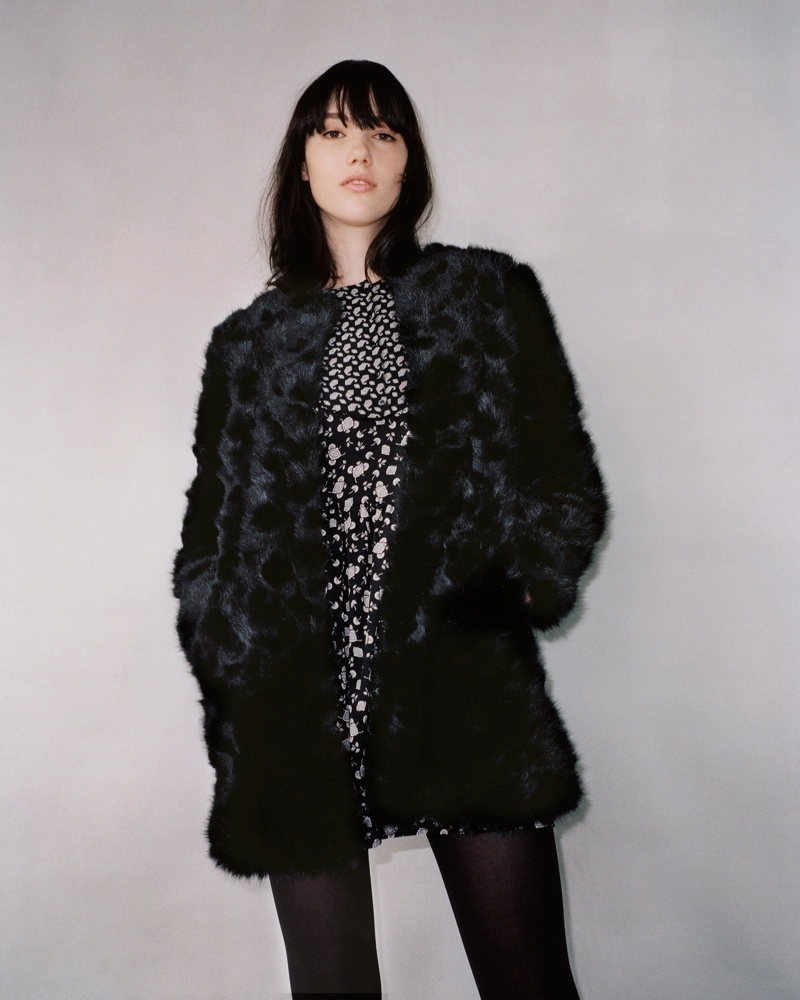 Furry Coats & Printed Dresses for Zara TRF's Winter 2014 Lookbook
