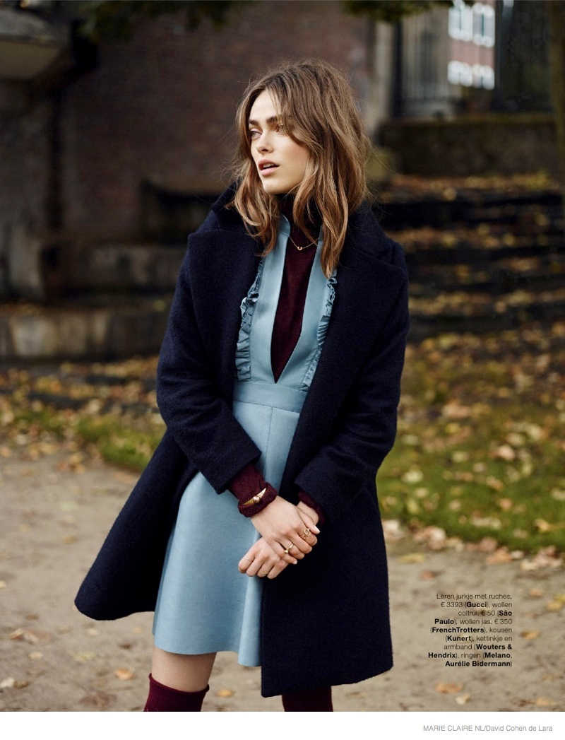Sophie Vlaming Wears 1970s Style in Marie Claire Netherlands Editorial