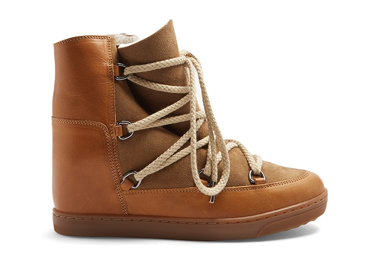 Isabel Marant 'Nowles' Shearling-Lined Leather Boots $606