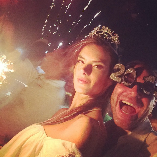 Alessandra Ambrosio rings in the New Year