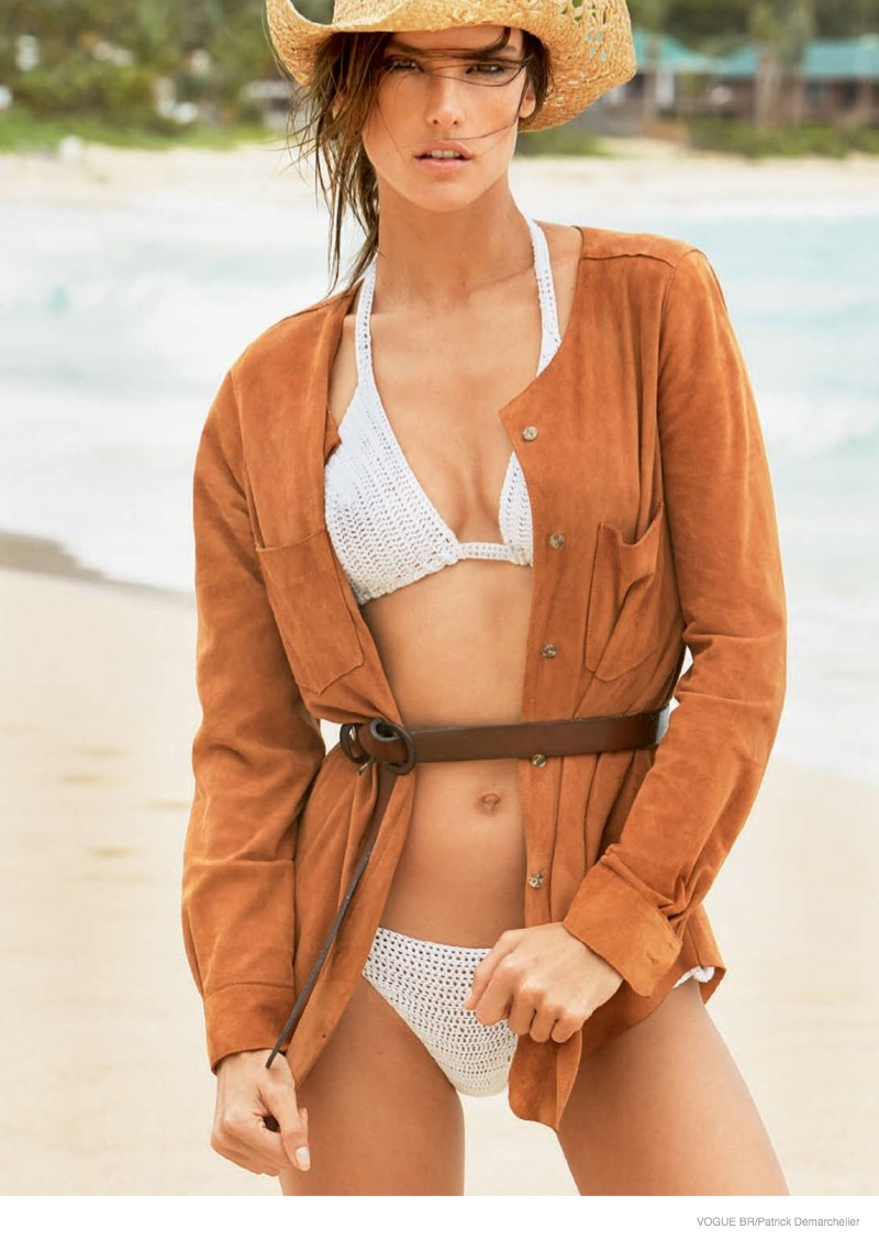 Alessandra Ambrosio is a Beach Babe in Swim Story for Vogue Brazil