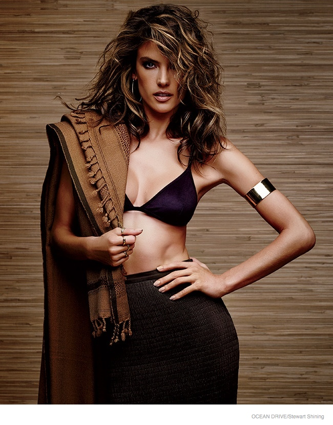 Alessandra Ambrosio Models Swimwear & Doesn't Take Haters Seriously in Ocean Drive Feature