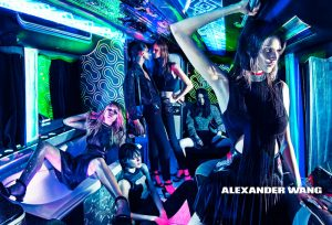 Alexander Wang Girls Take Over a Party Bus for Spring 2015 Ads