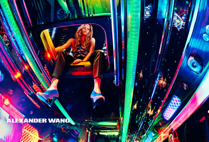 Anna Ewers fronts Alexander Wang spring-summer 2015 campaign with a party bus theme