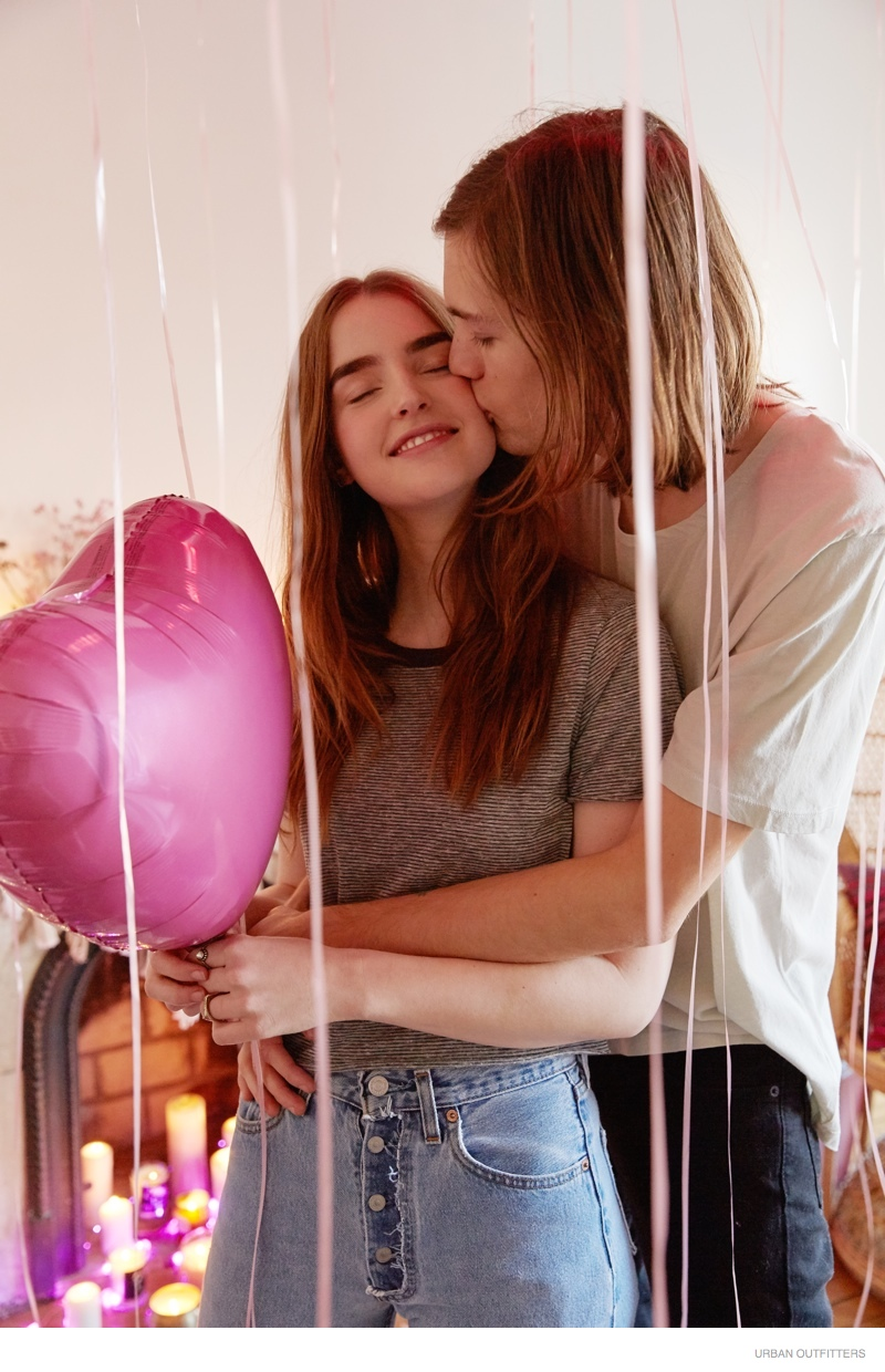 Ali Michael & Her Boyfriend Pose in Urban Outfitters' Valentine's Day Shoot