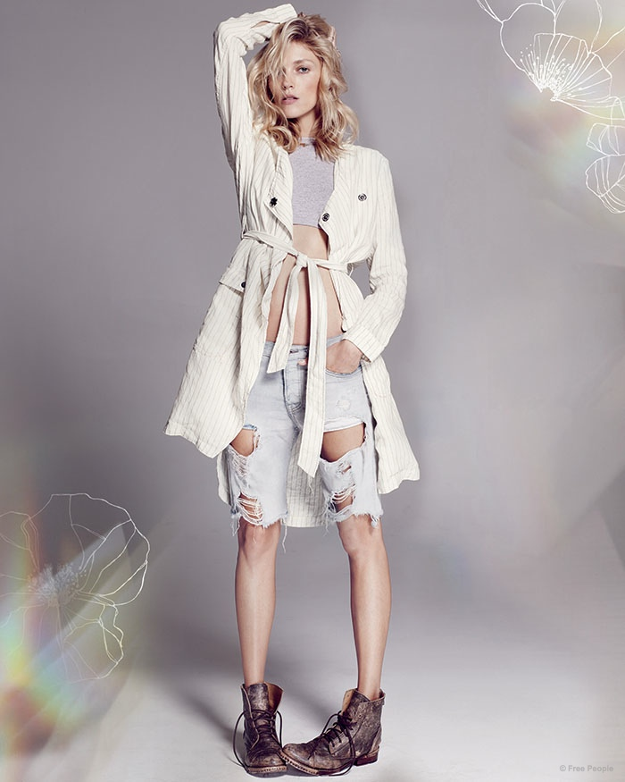 Anja Rubik Takes it Easy in Free People's Resort 2015 Collection