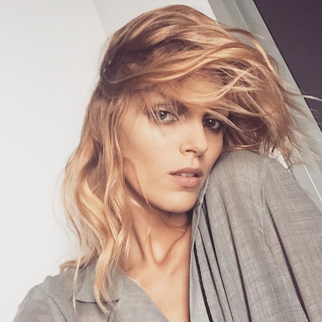 Anja Rubik shares her 'strawberry blonde' hairdo