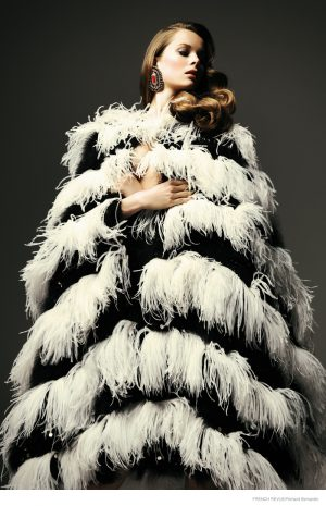 Anouk de Heer in Fur & Fringe for French Revue de Modes by Richard Bernardin