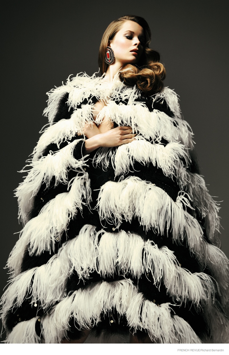 Anouk de Heer in Fur & Fringe for French Revue de Modes by Richard Bernardin