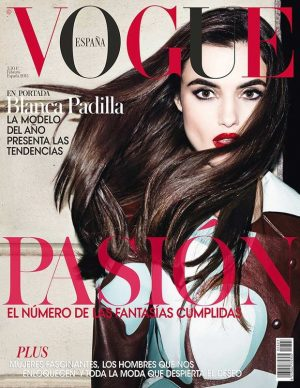 Blanca Padilla Lands First Vogue Cover on Vogue Spain's Hairtastic February Issue