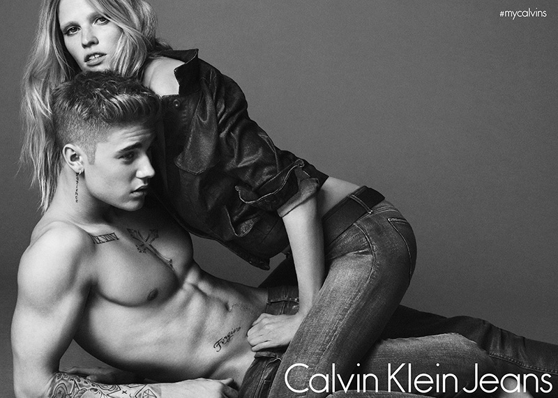 Lara Stone appeared in her first Calvin Klein campaign in 2008, but it would be less than two years later when the model landed a lucrative contract with the brand. From 2010 to 2015, Lara fronted advertisements for Calvin Klein Jeans, Underwear and Collection lines. Famously, she appeared with Justin Bieber in the highly buzzed about Jeans campaign.