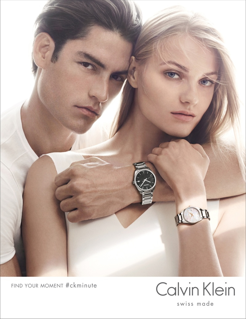 Anna Jagodzinska Shines in Calvin Klein Watches + Jewelry Campaign for 2015