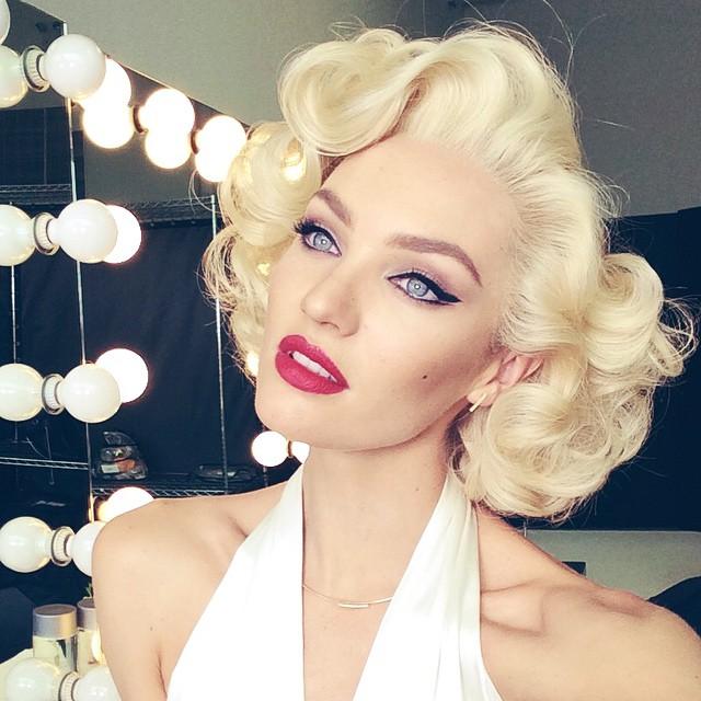 Blonde Bombshell! Candice Swanepoel Channels Marilyn Monroe in Beauty Shot