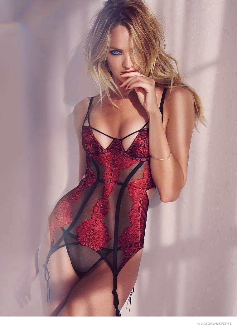 Candice Swanepoel is Red Hot in Victoria's Secret Valentine's Day Underwear