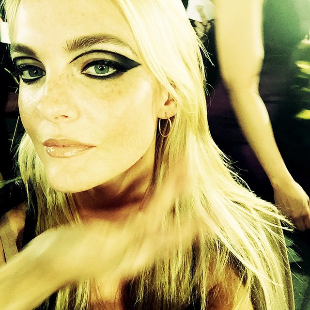 Caroline Trentini shares a selfie backstage at Versace couture