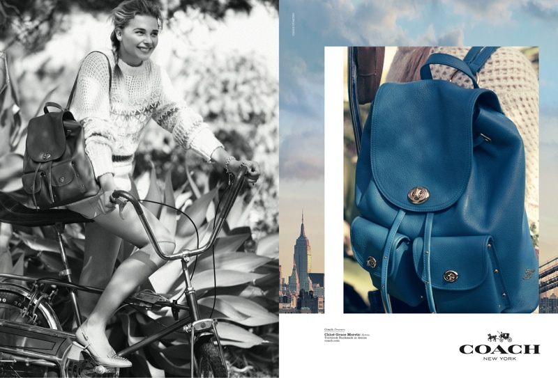 Chloe Grace Moretz for Coach Dreamers 2015 campaign