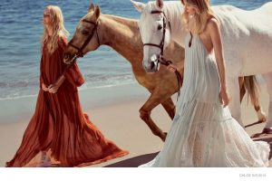 Caroline Trentini + Eniko Mihalik Hit the Beach for Chloe's Spring 2015 Ads