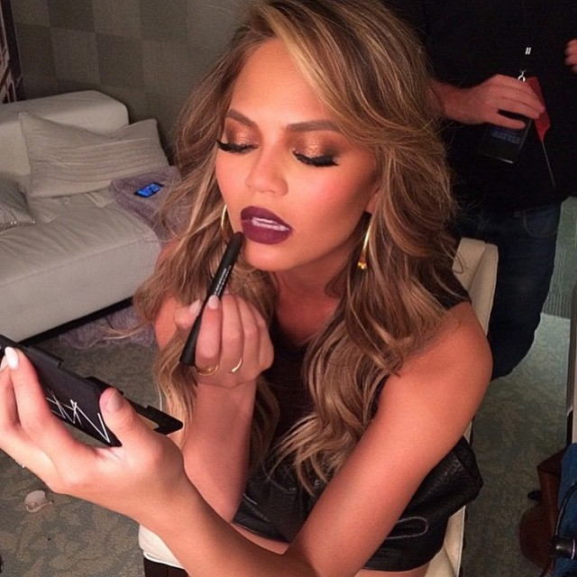 Chrissy Teigen gets all dolled up