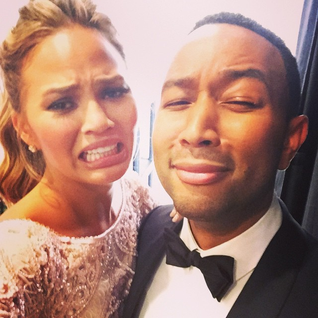Chrissy Teigen's Cry Face at the Golden Globes Becomes a Meme