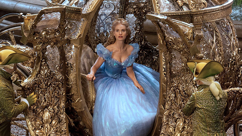 Lily James in a still from the 2015 live-action version of 'Cinderella'. Photo: Disney.
