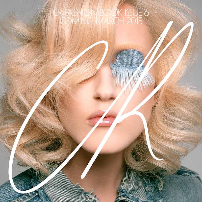 Anna Cleveland Wears Denim Eyelash in CR Fashion Book Teaser