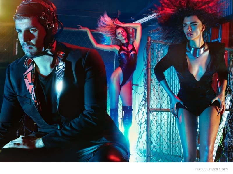 Crystal Renn Plays a Sexy Vampire in HGIssue by Hunter & Gatti