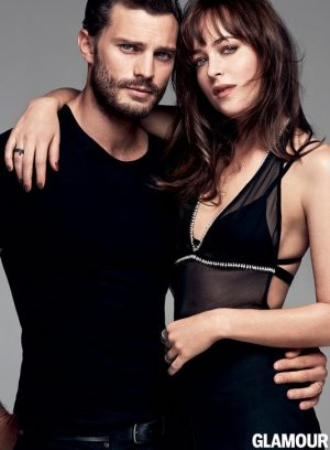 Dakota Johnson & Jamie Dornan Star in Glamour & Talk '50 Shades of Grey'
