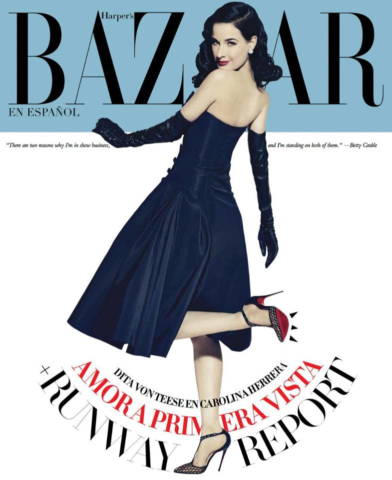 Dita Von Teese Shows Off Her Louboutins on Harper's Bazaar Mexico Cover