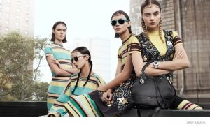 Cara Delevingne Leads DKNY's Spring 2015 Campaign with Braids & Stripes