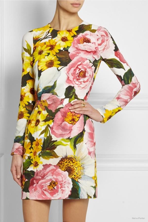 Dolce & Gabbana floral cady mini dress available at Net-a-Porter