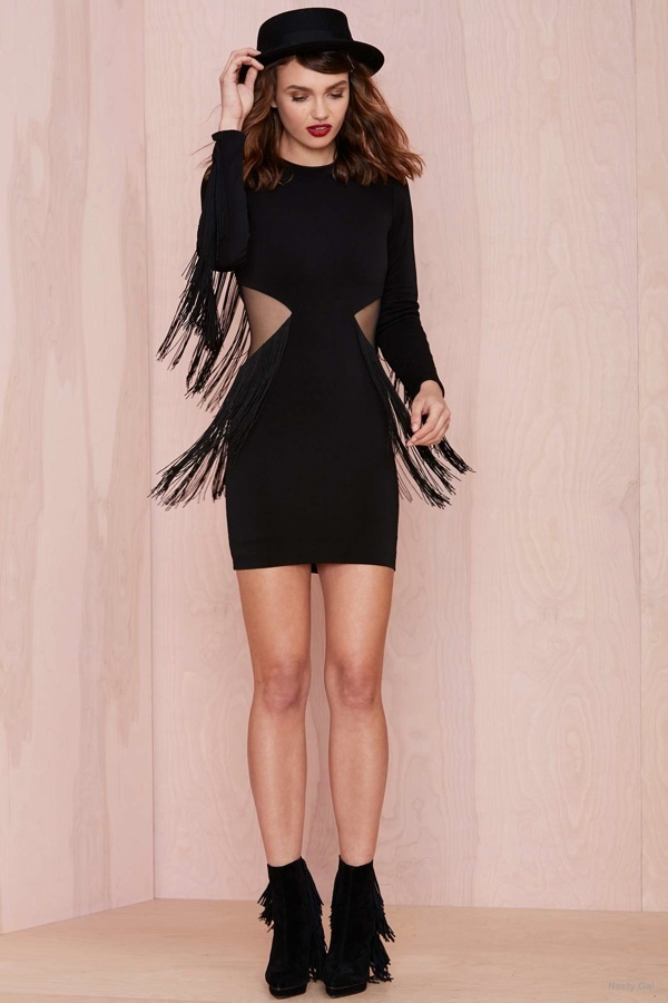 5 Black Fringe Dresses to Dance the Night Away In