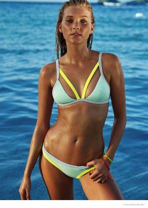 Elsa Hosk Takes a Hot Swim for Victoria's Secret Photos