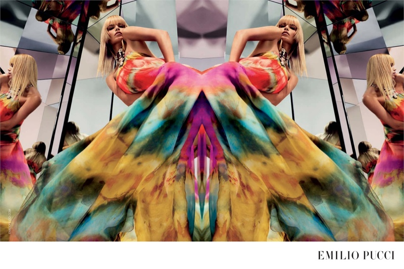Natasha Poly is a 70s Dream in Emilio Pucci's Spring 2015 Ads