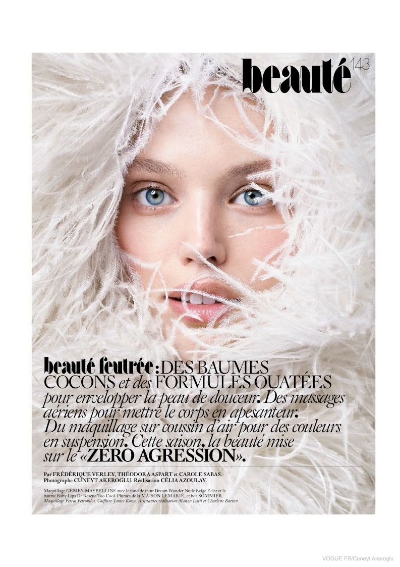 Covered Beauty: Emily DiDonato Poses for Cuneyt Akerglou in Vogue Paris